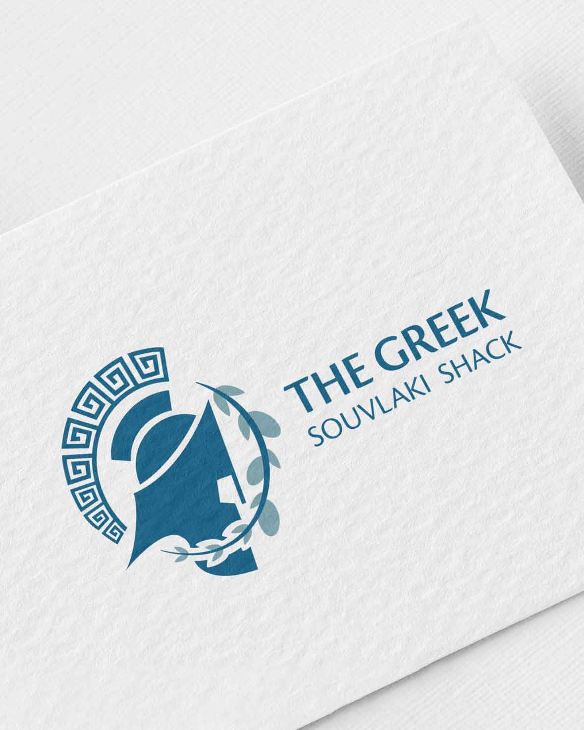 The Greek Souvlaki Shack Restaurant Logo Design Patricia Danochristos